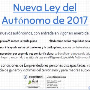 Nueva ley del autónomo 2017 (I)