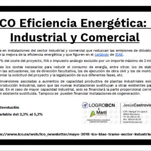 Línea ICO Eficiencia Energetica. Sector Industrial y Comercial